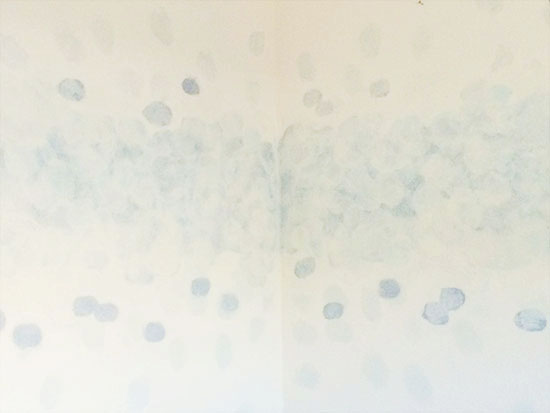 Wash Out Circles for DIY Faux Watercolor Wallpaper Wall Treatment with Paint