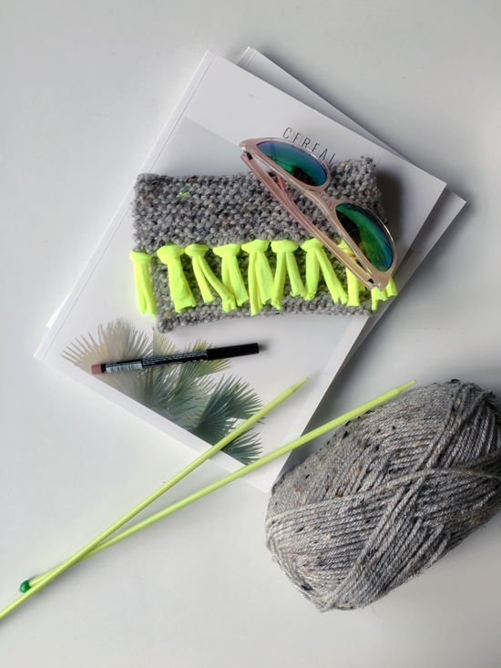 The Design Confidential DIY // Knit Clutch + Sunglass Case via @thedesconf #MichaelsMakers