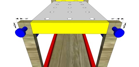 Attach the Knobs for The Design Confidential Free DIY Furniture Plans // How to Build a Children's Play Workbench
