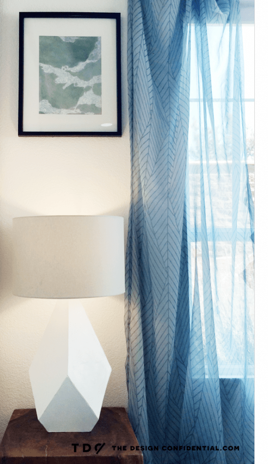 Plug In and Enjoy The Design Confidential DIY Over-Sized Geometric Lamp Project Using Mat Board