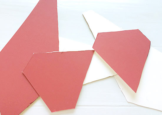 Cut Out Pieces for The Design Confidential DIY Over-Sized Geometric Lamp Project Using Mat Board