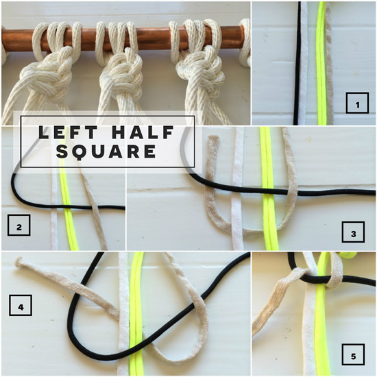 How to Tie a Left Facing Half Square Knot