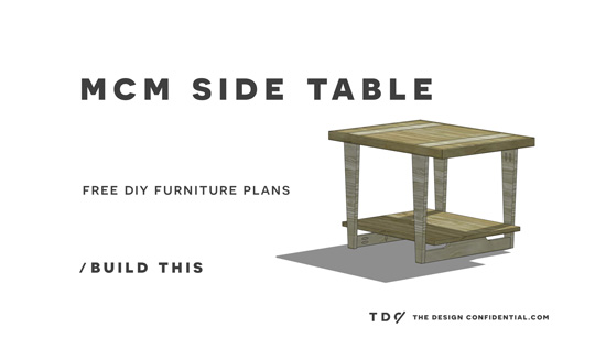 The Design Confidential Free DIY Furniture Plans How to Build a Mid Century Modern Side Table