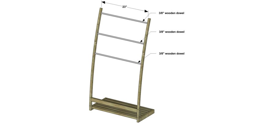 You Can Build This! Easy DIY Furniture Plans from The Design Confidential with Complete Instructions on How to Build a Mei Freestanding Towel Stand via @thedesconf