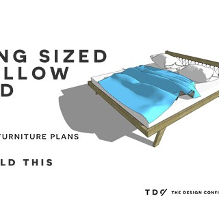 You Can Build This! Easy DIY Furniture Plans from The Design Confidential with Complete Instructions on How to Build a King Sized Mellow Bed via @thedesconf