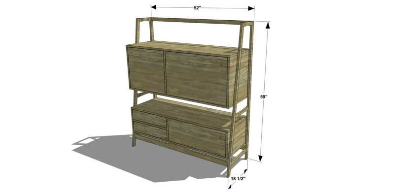 Mid Century Modern Nightstand Plans: Free DIY Furniture Plans // How To Build A Mid Century