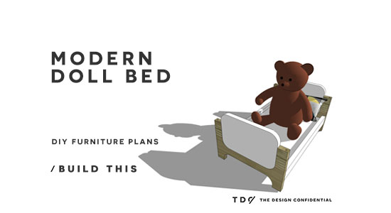 You Can Build This! The Design Confidential DIY Furniture Plans // How to Build a Modern Doll Bed