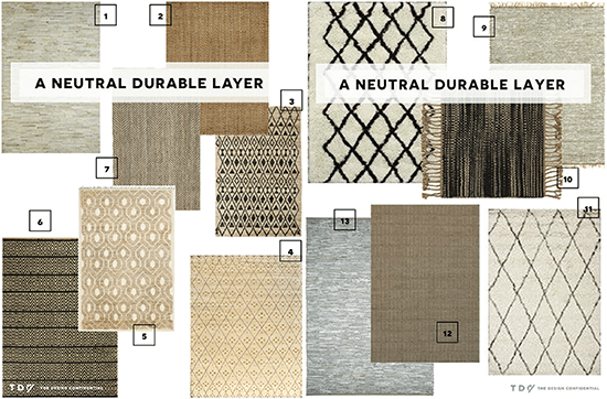 The Neutral Durable Rug Layer Collection of Options