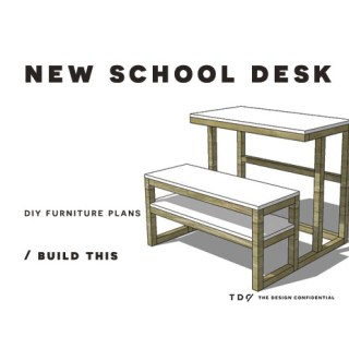 You Can Build This! Easy DIY Furniture Plans from The Design Confidential with Complete Instructions on How to Build a New School Desk via @thedesconf