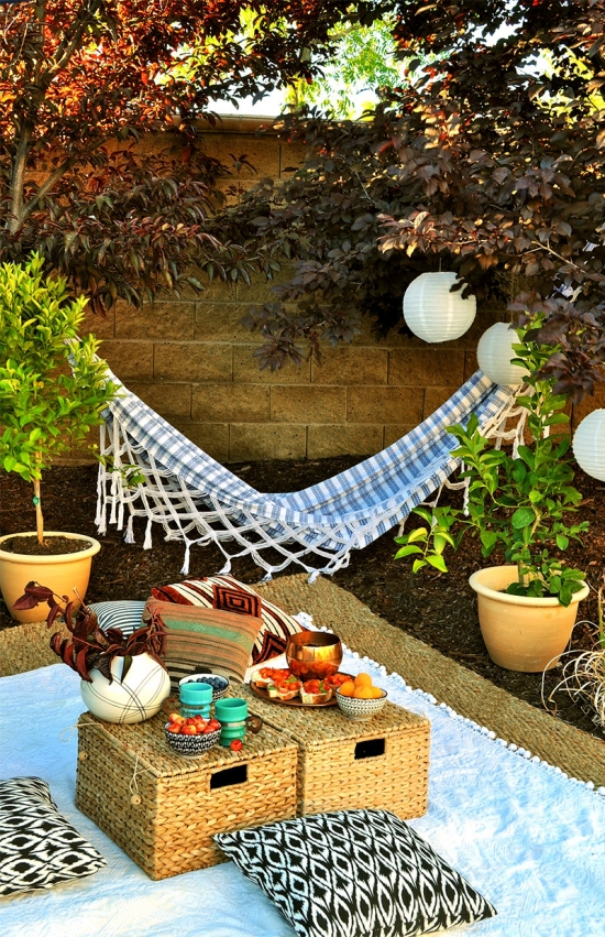 Hammock and Lounging Area for the Home Depot Style Challenge Outdoor Games Edition