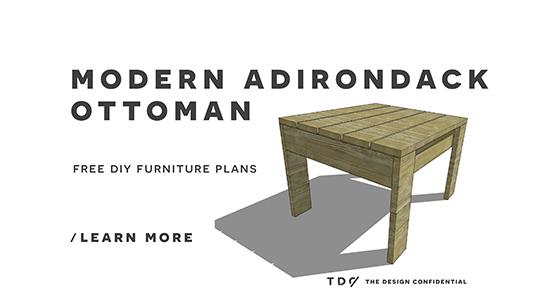 Free DIY Furniture Plans How To Build A Modern Adirondack Ottoman The De