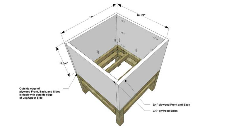 You Can Build This! Easy DIY Plans from The Design Confidential with Complete Instructions on How to Build a Raised Cube Planter via @thedesconf