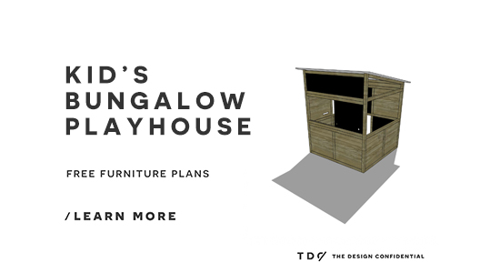 The Design Confidential Free DIY Furniture Plans // How to Build a Bungalow Playhouse