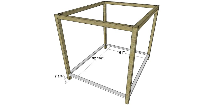 You Can Build This! Easy DIY Plans from The Design Confidential Free DIY Furniture Plans // How to Build a Queen Sized Canopy Bed via @thedesconf