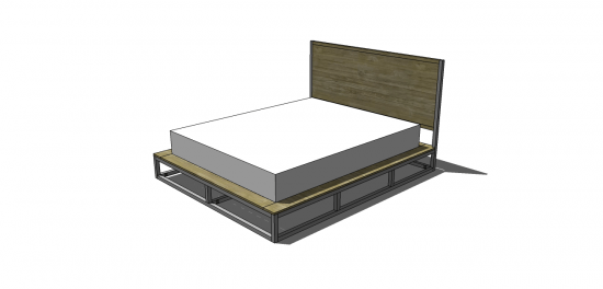 Cute Free DIY Furniture Plans to Build a Copenhagen Queen Sized Bed