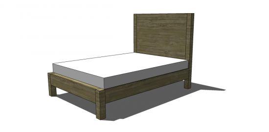 Stunning Free DIY Furniture Plans to Build an Emmerson Queen Bed