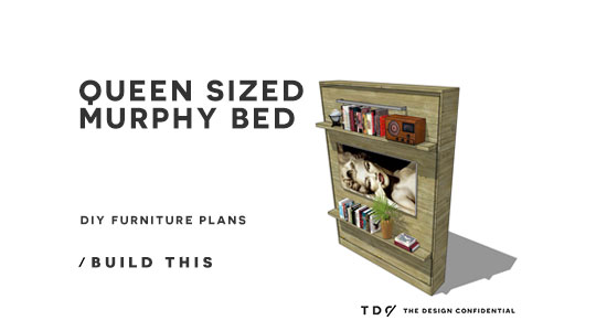 Free Diy Furniture Plans How To Build A Queen Sized Murphy Bed