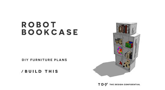 DIY Furniture Plans // How to Build a Robot Bookcase - The
