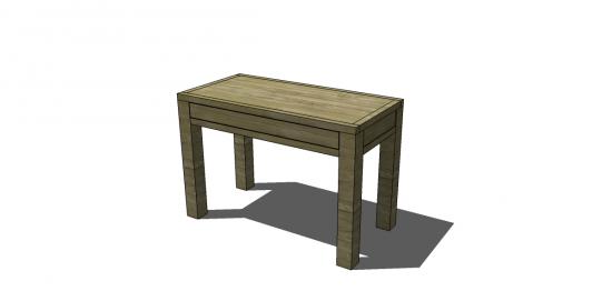 Free Diy Furniture Plans To Build A Dawson Small Desk