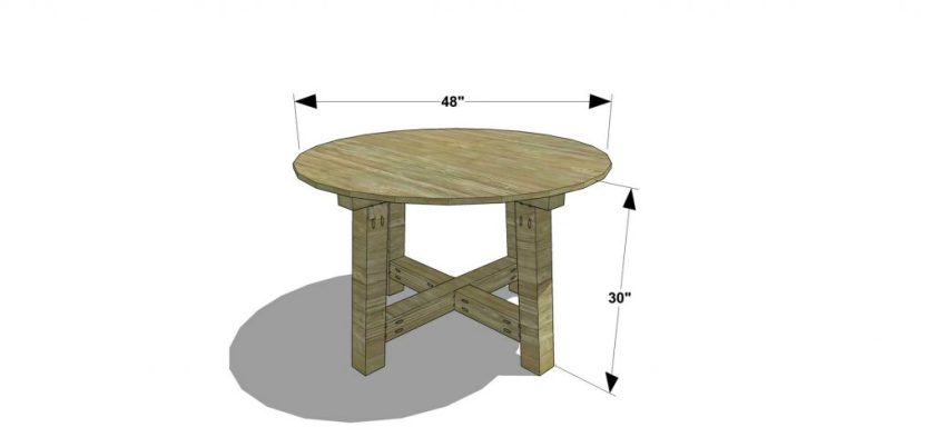 You Can Build This! Easy DIY Plans from The Design Confidential Free DIY Furniture Plans // How to Build a Salvaged Round Table via @thedesconf