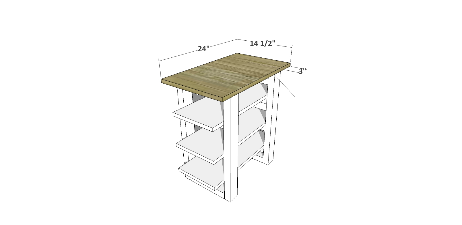DIY Furniture Plans // How to Build a Sauder Shelf Table