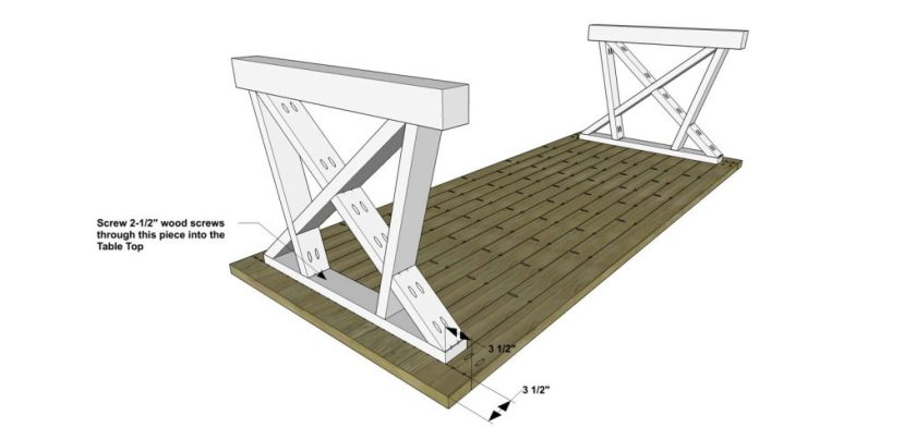 You Can Build This! Easy DIY Plans from The Design Confidential Free DIY Furniture Plans // How to Build An Andrew Indoor Outdoor Dining Table via @thedesconf