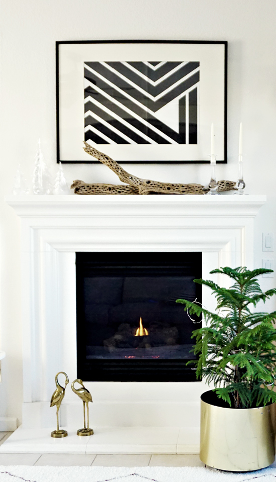 The Design Confidential's Mantle all Decked Out with Glimmer + Glee // Win Yourself a Shopping Spree