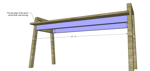 Table Aprons for The Design Confidential Free DIY Furniture Plans: How to Build a Children's Two Tone Play Table