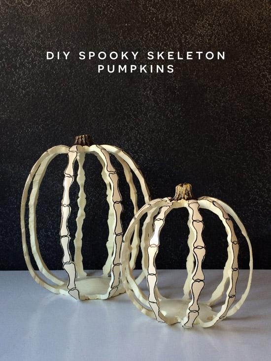 DIY // Spooky Skeleton Pumpkins