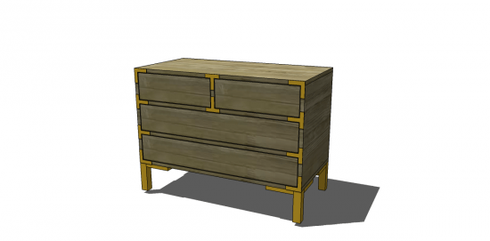 Free DIY Furniture Plans To Build A FourDrawer Campaign Side Table - How to build a side table