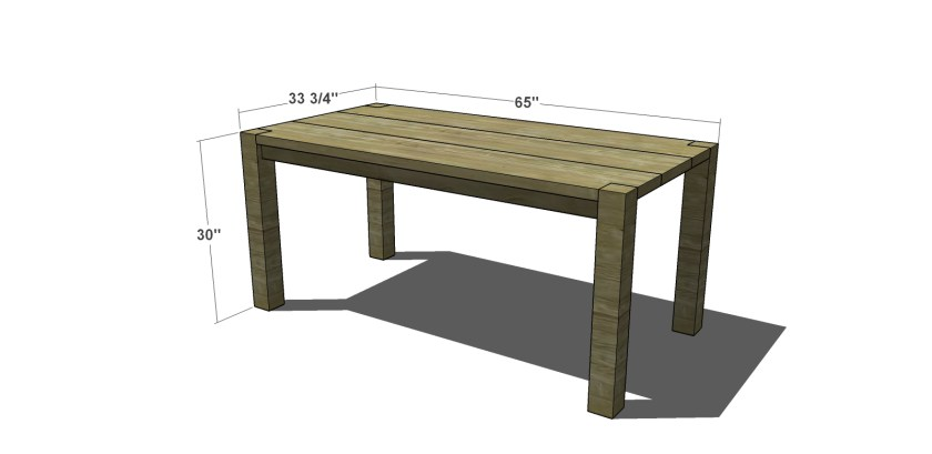 The Design Confidential Free Woodworking Plans to Build a Crate & Barrel Inspired Big Sur Coastal Collection Dining Table
