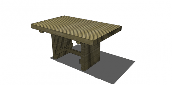 You Can Build This! Easy DIY Furniture Plans from The Design Confidential with Complete Instructions on How to Build a Emmerson Dining Table via @thedesconf