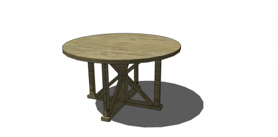 Free Diy Furniture Plans To Build An Indoor Outdoor Antigua Round Table The Design Confidential
