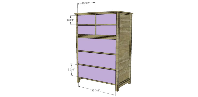 Free DIY Furniture Plans to Build a PB Inspired Farmhouse Tallboy Dresser T