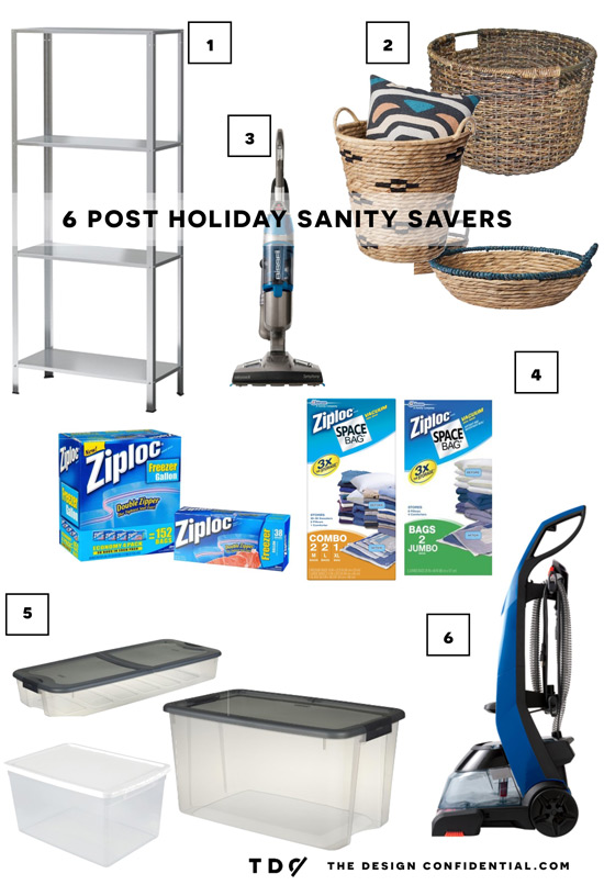 The Design Confidential 6 Sanity Savers // How to Beat the Post Holiday Backlash