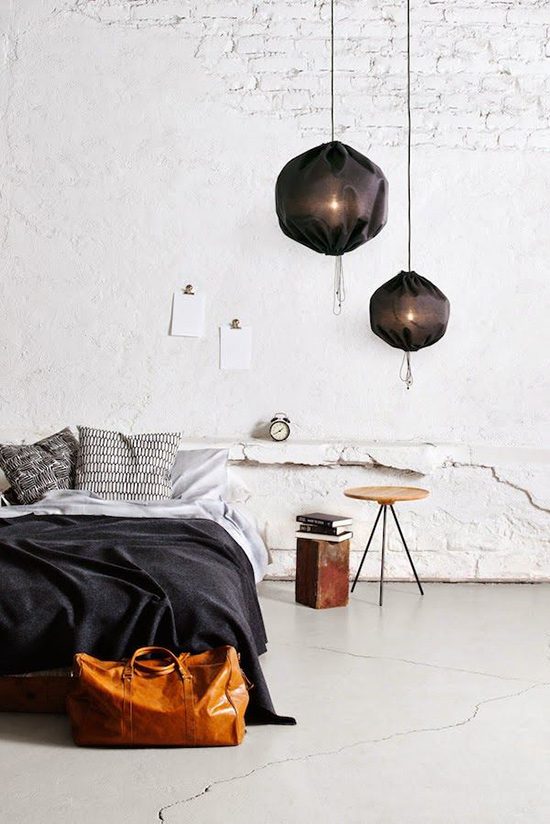 Gorgeous Fabric Covered Pendant Lights the Kuu Pendant Lamps and Leather Bag for The Design Confidential Currently Crushing The Unmade Bed