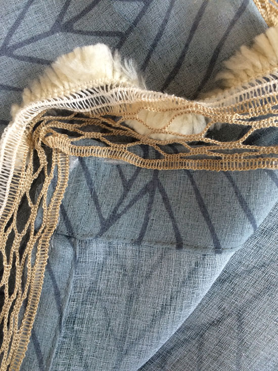 Rounding the Corner for The Design Confidential Easy Inexpensive 5 Minute DIY Fabric Trim