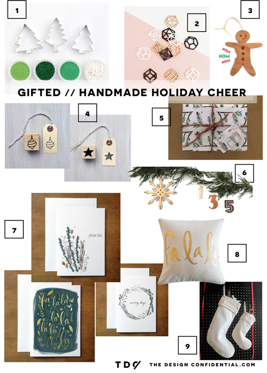 The Design Confidential Gifted // Handmade Gift Guide for Spreading the Holiday Cheer
