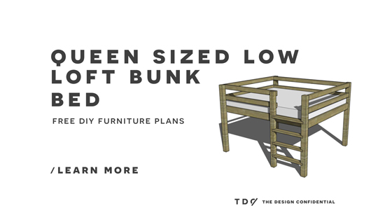 Free DIY Furniture Plans // How to Build a Queen Sized Low ...