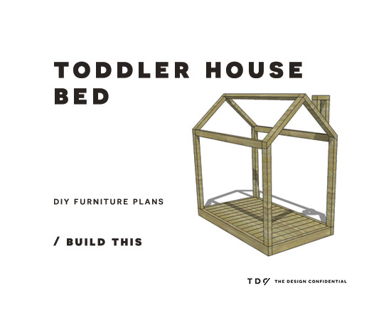Good Easy DIY Furniture Plans to Build a Toddler Sized House Bed