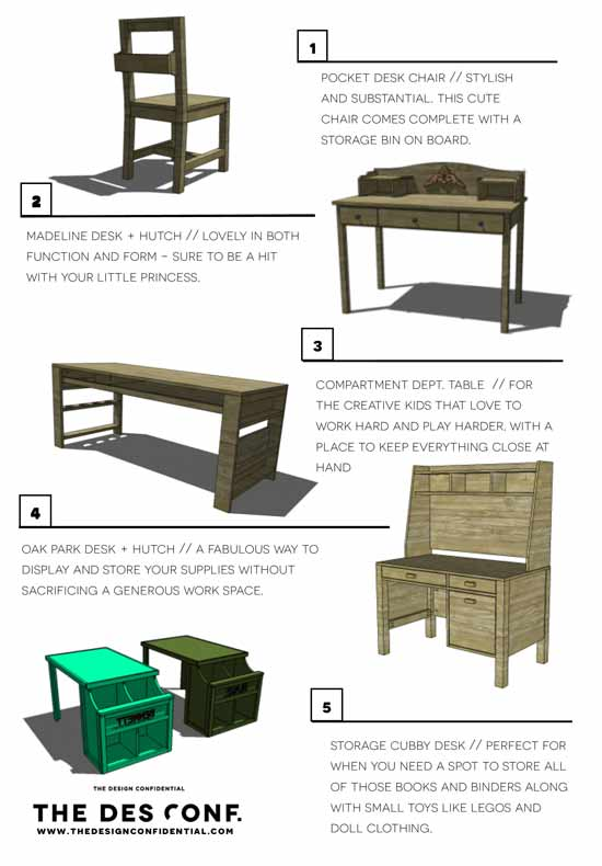Top 10 DIY Desk Plans + Back to School Furniture Projects