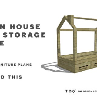 You Can Build This! The Design Confidential's Easy DIY Furniture Plans to Build a Storage Base for the Twin House Bed via @thedesconf