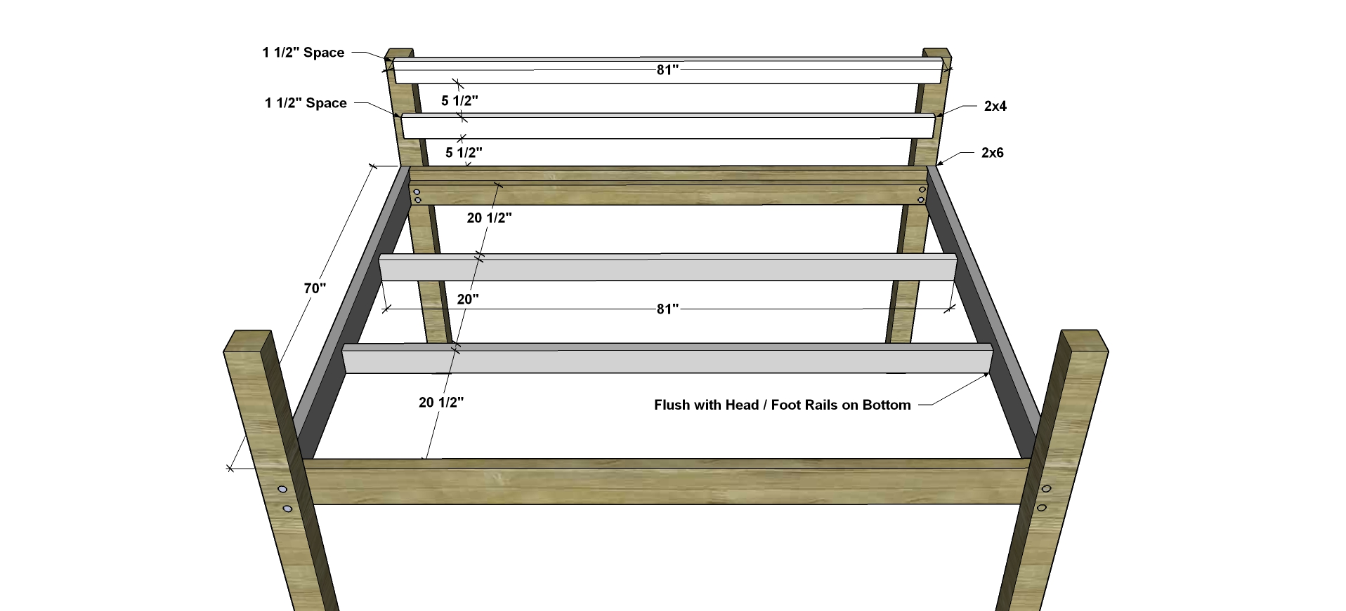 Free Diy Furniture Plans How To Build A Queen Sized Low