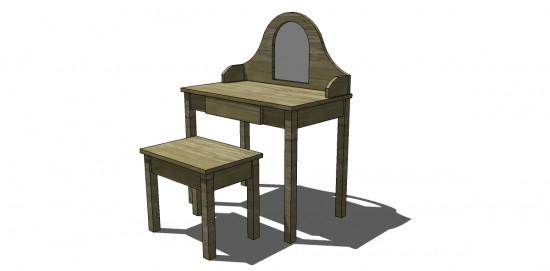 diy vanity table plans. free diy furniture plans to build a land of nod inspired debutante vanity and bench diy table