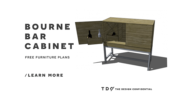 Free DIY Furniture Plans: How to Build a Bourne Bar Cabinet - The ...