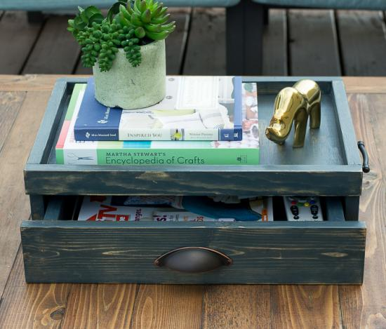 Coffee Table With Gun Drawer Plans: Free DIY Plans To Build A Coffee Table Serving Tray With