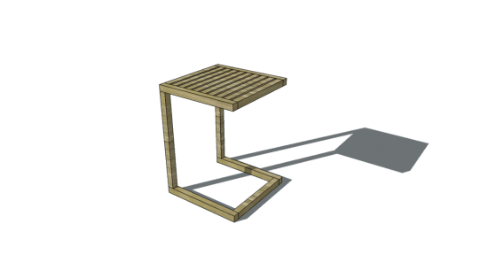 You Can Build This! Easy DIY Furniture Plans from The Design Confidential with Complete Instructions on How to Build a 2x2 Cantilevered Table via @thedesconf