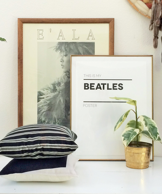 Beatles Print Pillows and Brass for The Design Confidential in Partnership with Great.ly and Styling // Gorgeous Great.ly Gathered Goods