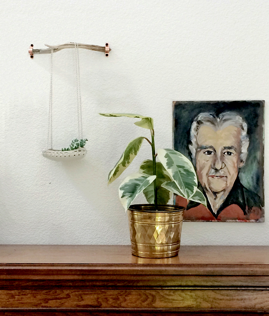 Ceramic and Crochet Hanging Planter and Vintage Portrait for The Design Confidential in Partnership with Great.ly and Styling // Gorgeous Great.ly Gathered Goods