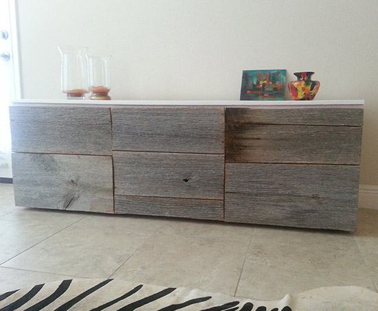 Reader Showcase // Two Toned Glossy and Reclaimed Life Sideboard